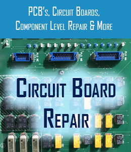 circuit board repair for pcb circuit boards and component level repair