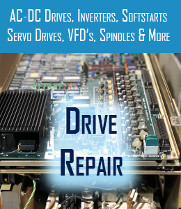 drive repair for ac-dc drives inverters softstarts servo drives vfd and spindles